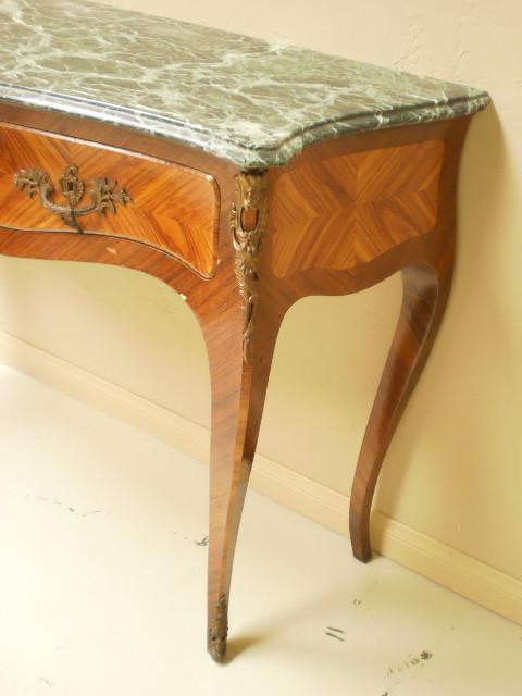 Italian Luigi XVI inlaid consolle table with marble top — Bellini\'s ...