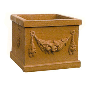 Terracotta Square Rectangular Planter Vases Bellini S Antique Italia