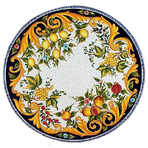Italian Deruta Garden Tables Amp Tops Bellini S Antique Italia