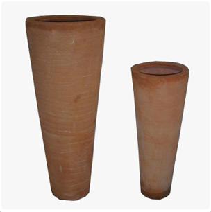 terracotta modern cone vase