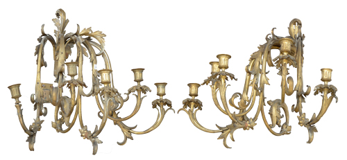 Antique Italian Bronze 5-Arm Sconce  sc 1 st  Belliniu0027s Antique Italia & Antique Italian Sconces Wall u0026 Ceiling Table u0026 Occasional Lighting ...