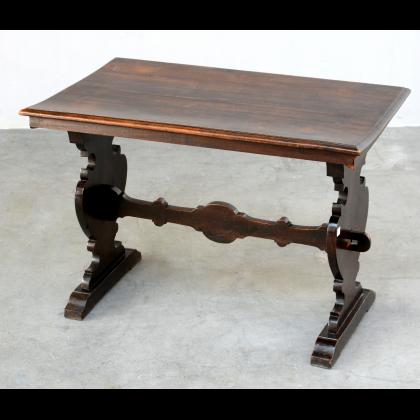 Antique Italian Rustic Tuscan Refectory Style Small Side Table - Antique Italian Tables & Desks — Bellini's Antique Italia