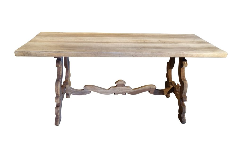Antique Italian Tuscan Frattino Refectory Style Farmhouse Table - Antique Italian Tables & Desks — Bellini's Antique Italia