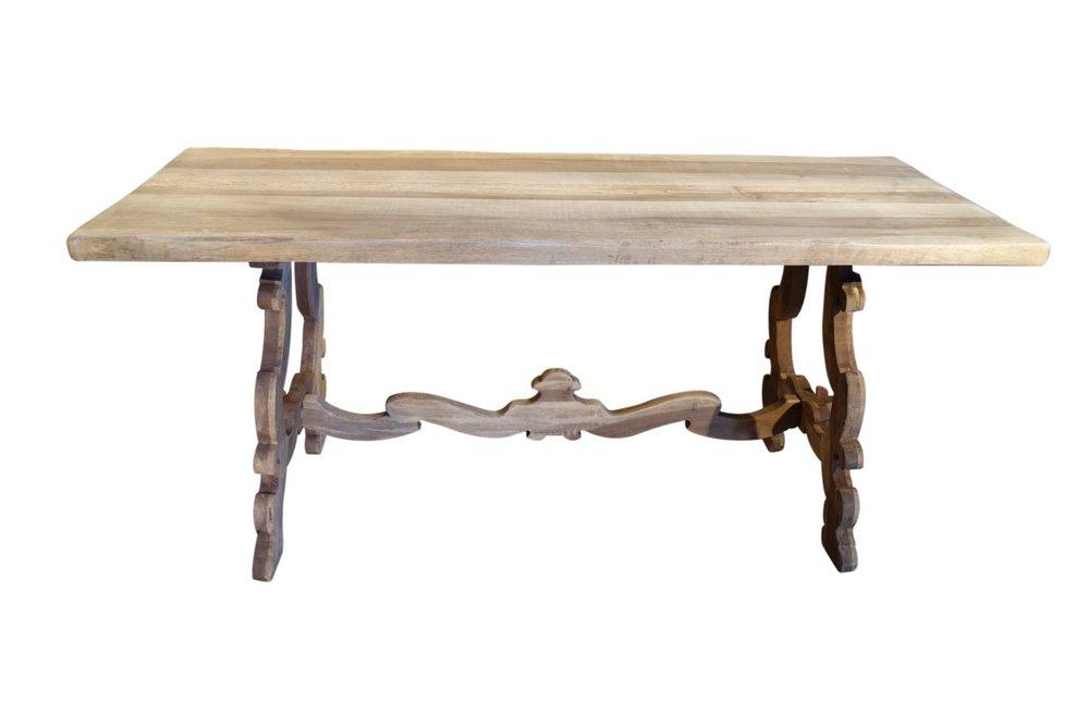 Antique Italian Tuscan Frattino Refectory Style Farmhouse Table