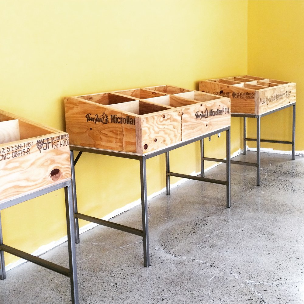 Record Display Bins for Up the Creek Records in Walnut Creek