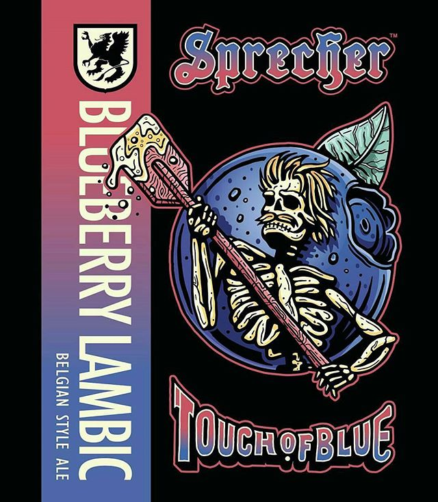 A new @sprecherbrewery beer label that I designed has been announced! I've been itching to show this one for a while. Here is Touch of Blue, a blueberry lambic styled beer with #gratefuldead inspired artwork! This is one of my favorite beer designs yet and am very pleased with how it turned out. Make sure to go get some at the #sprecher gift shop and other locations! . . #sprecherbrewery #gratefuldeadfans #bandposters #touchofblue #blueberrylambic #blueberrybeer #craftbeer #beer #mke #illustration #beerart #graphicdesign #packaging #adobe #drinklocal #milwaukeeproud #illustrators #letsdrawsomething #illustratorart #packagingdesign #milwaukee #freelancers #startups #beerlabels #bandart #60s #rocknroll #oldiesmusic