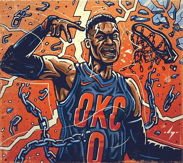 Russell Westbrook, such a pure killer! Do you think the #okcthunder have a chance at taking down the Warriors this year? . Feel free to repost with giving credit! . . . #nbaart #basketballart #illustration #illustrators #fanart #nbaillustrators #drawdaily #okc #thunder #loudcity #thunderup #thundernation #oklahoma #oklahomacity #vector #inking #westbrook #mvp #russellwestbrook #whynot #nike #bleacherreport #thunderart #thunderfans #beastbrook #melo #me7o #pg13 #paulgeorge