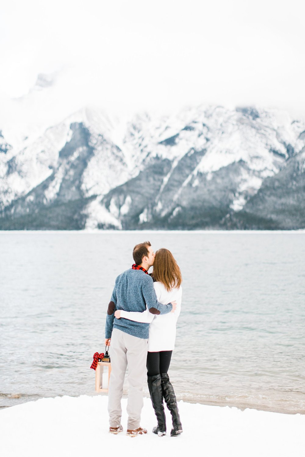 Lake Minnewanka Banff Engagement Calgary Wedding Photographer_0011.jpg