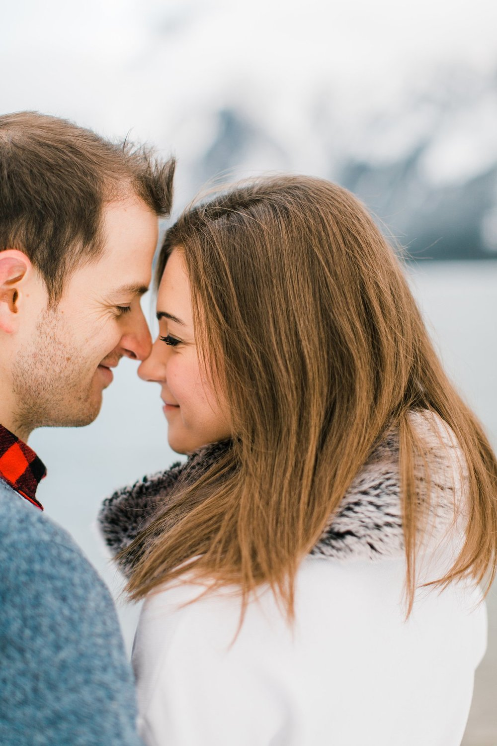 Lake Minnewanka Banff Engagement Calgary Wedding Photographer_0012.jpg