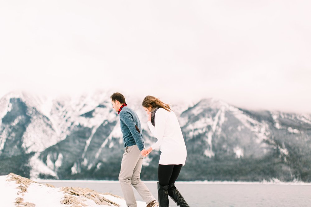 Lake Minnewanka Banff Engagement Calgary Wedding Photographer_0015.jpg