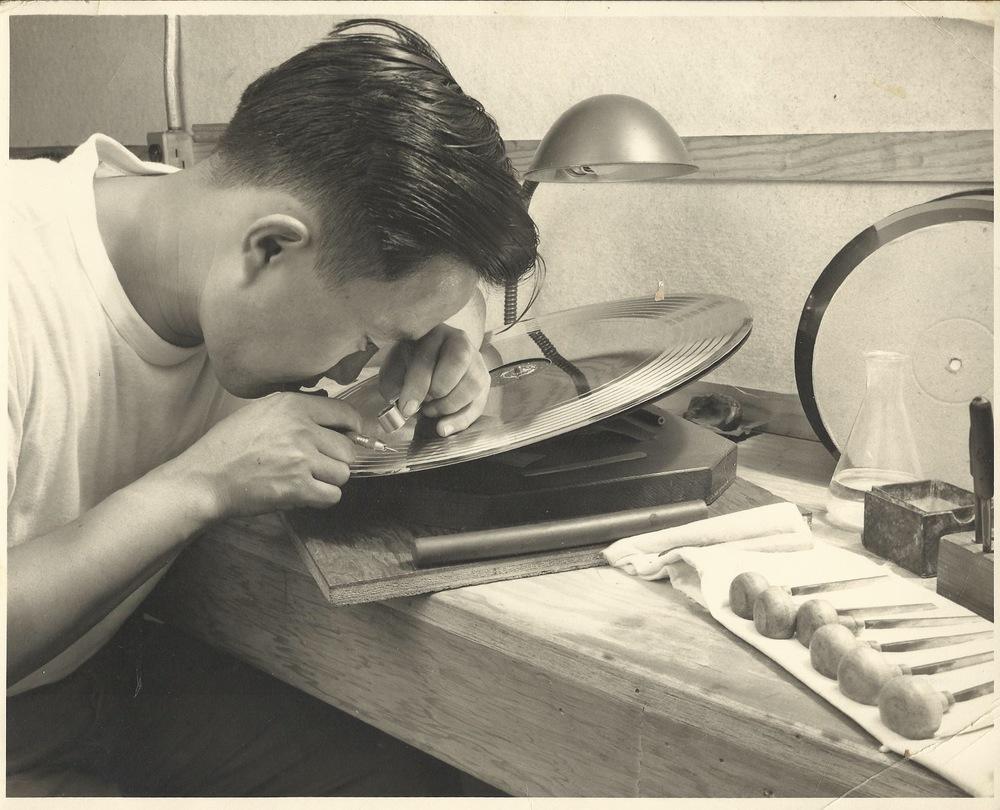 GRAMPA DON at the Columbia Records Record Pressing Plant