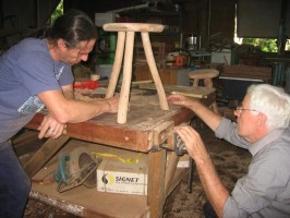 Local Wood Artist, Richard Knight will share the innovative technique of mortise and tenon at the Wood Expo.