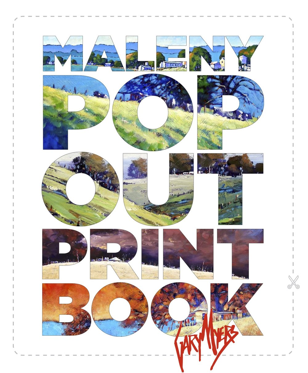 Maleny Pop Out Print Book by Gary Myers