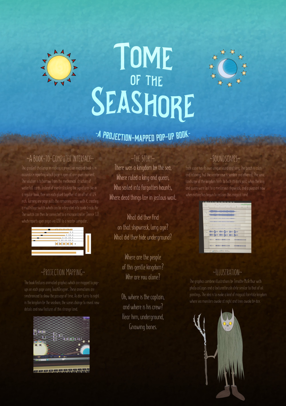 The poster design for  Tome of the Seashore .