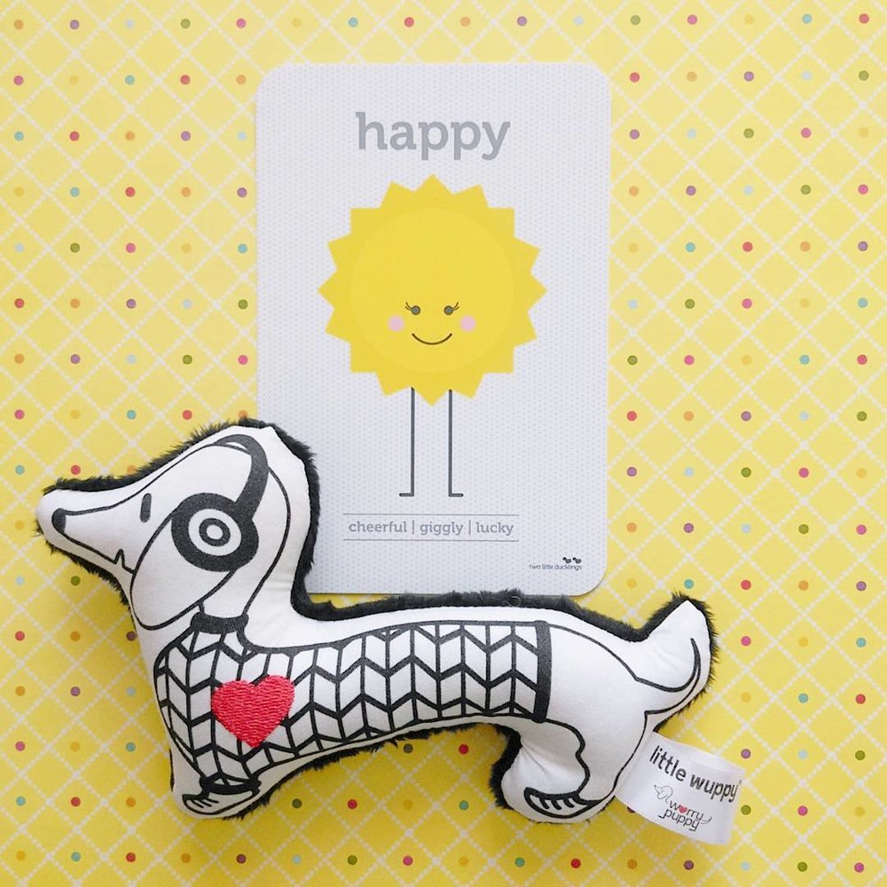 Chevron Wuppy®, spotted with Happy Flash Card by Two Little Ducklings