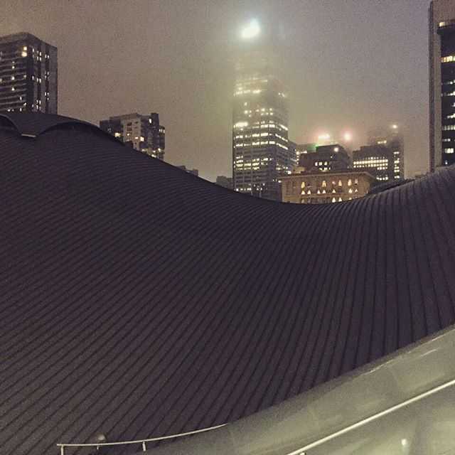 Nighttime over flinders station
