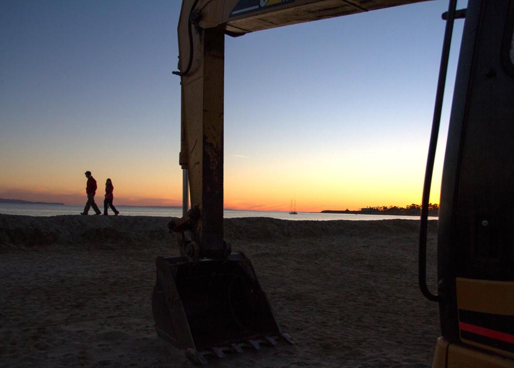 Goleta Beach Sand Berm