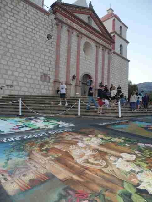 Santa Barbara Mission Sidewalk Art