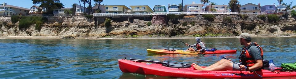 Kayakers at Goleta Beach