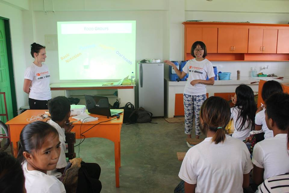 vfv provides nutrition education to high school students Source: VFV Facebook page