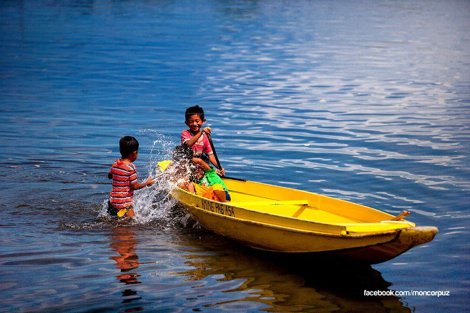 "The yellow boat is aptly named ""Aming Pag-asa"" –an allude to the hope these boats bring to the children"