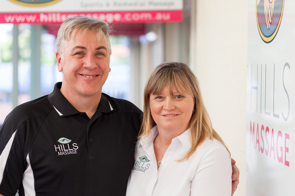 Alec (Practice Manager) & Michelle (Owner and Massage Therapist) from Hills Massage