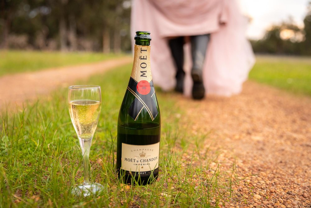 Champagne and Gumboots - branding shoot