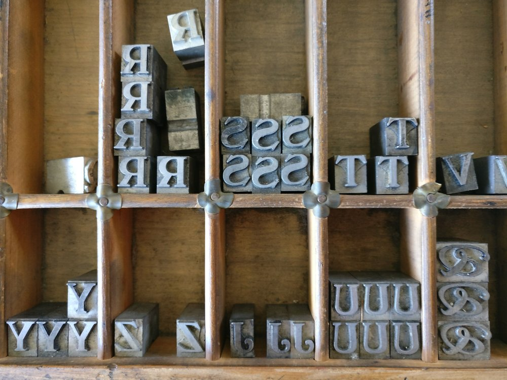 A recent visit to a Wairarapa letterpress. September 2017.