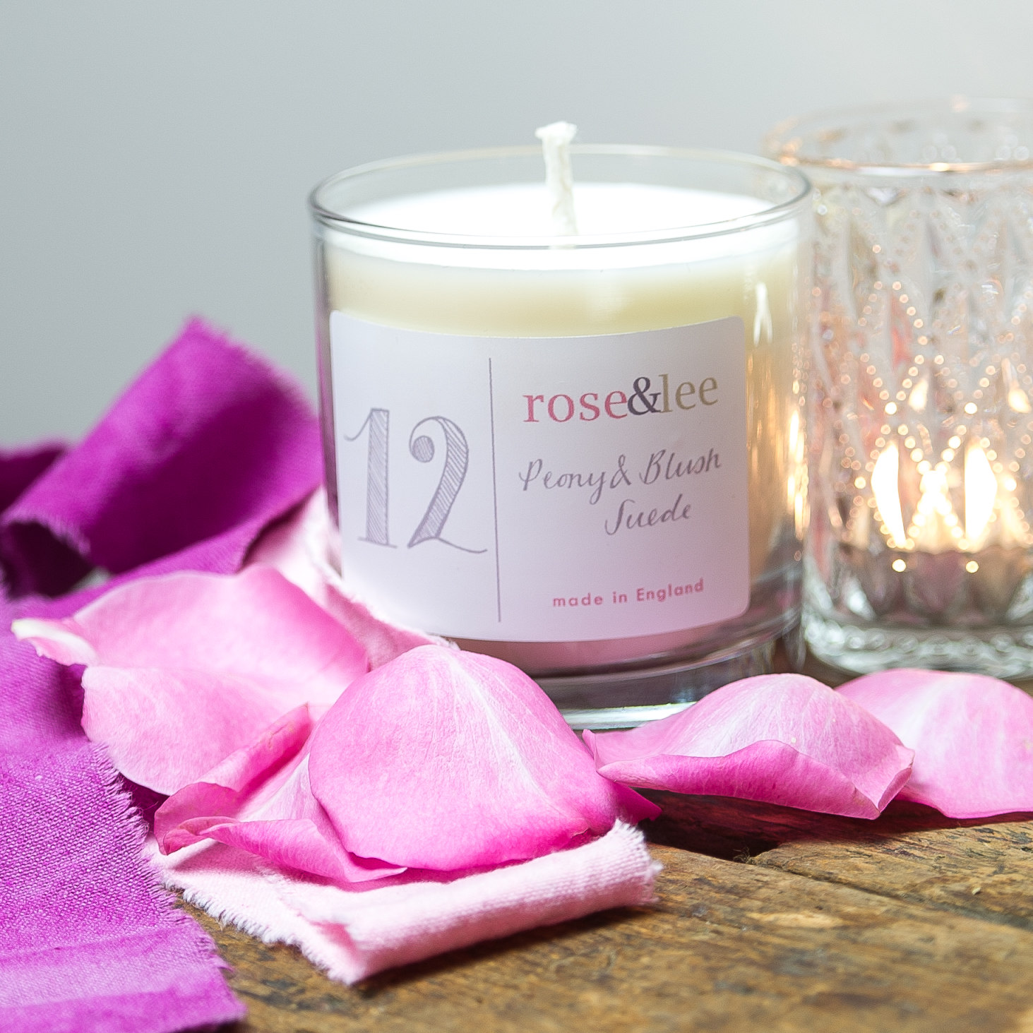 Pink Peony& Blush Suede Deluxe Home Candle — Rose & Lee Interiors ...