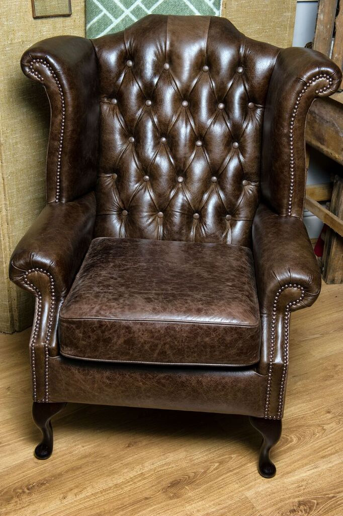 Rose U0026 Lee Antique Leather Wingback Chair