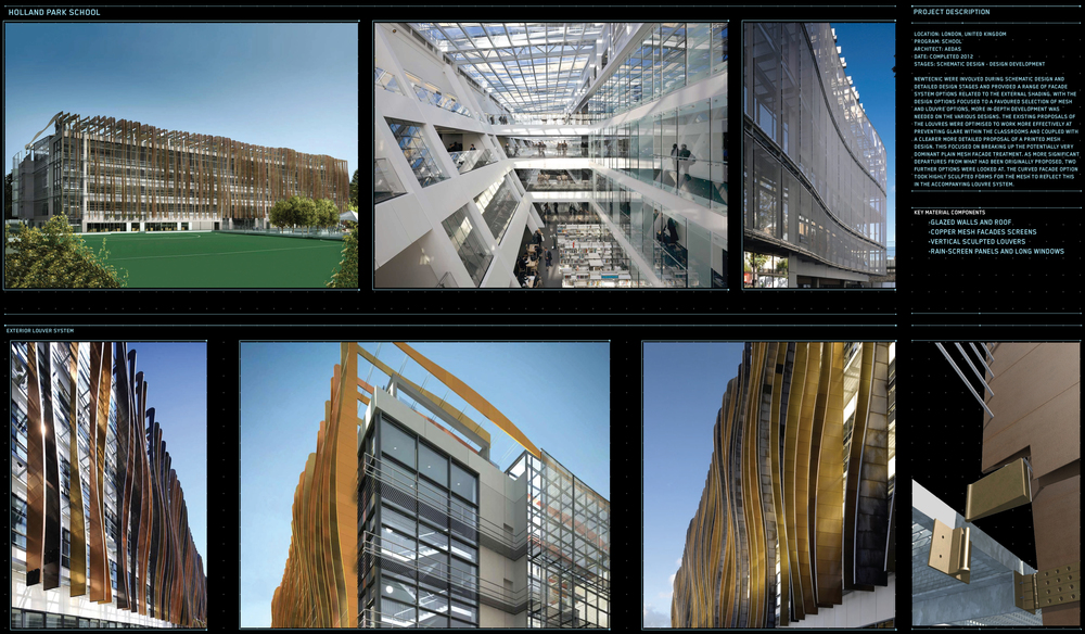 Project Name: Holland Park School Location: London, UK Client: Aedas Date: 2012