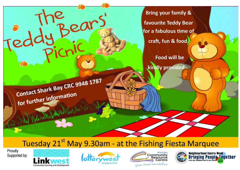 Teddy Bear Picnic Shark Bay Crc