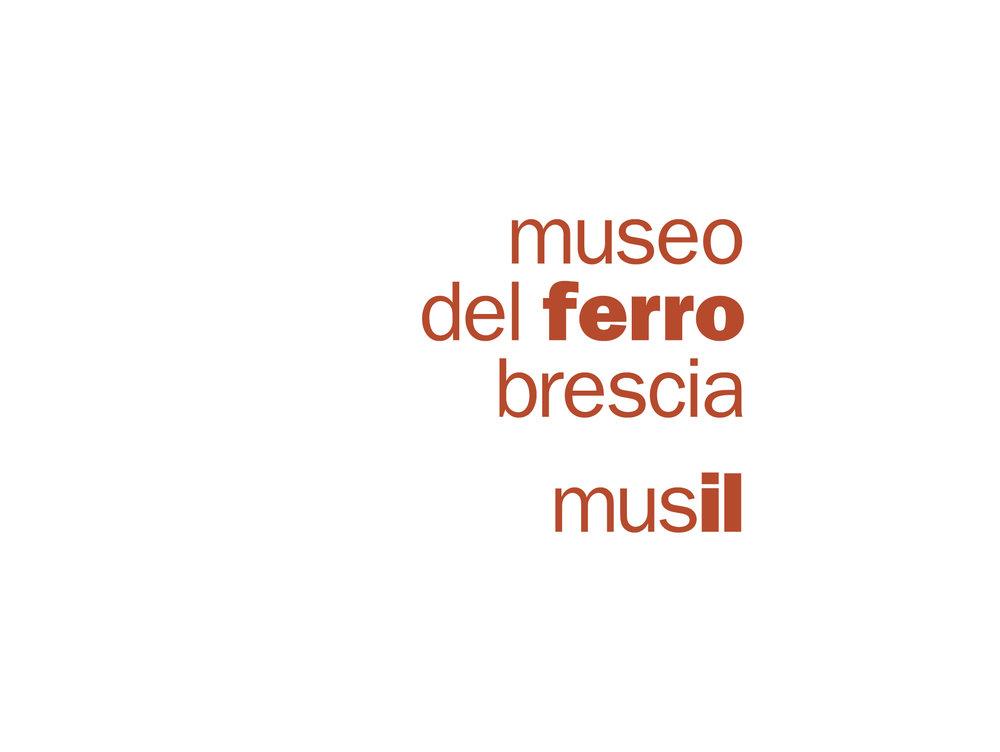 declinazione Logotipo Museo del Ferro di Brescia.