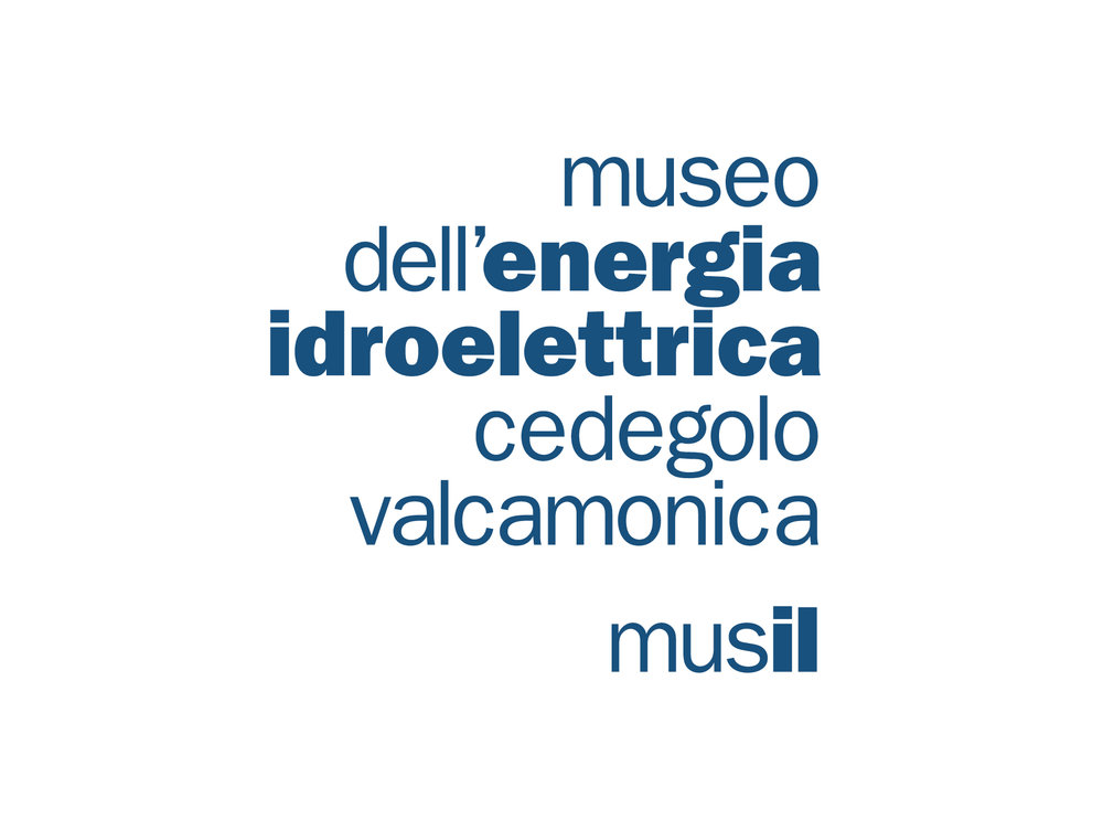 declinazione Logotipo Museo dell'energia Idroelettrica di Cedegolo Valcamonica.