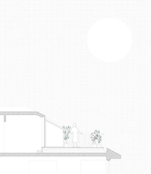 Vi har tegnet en takterrasse i Trondheim.