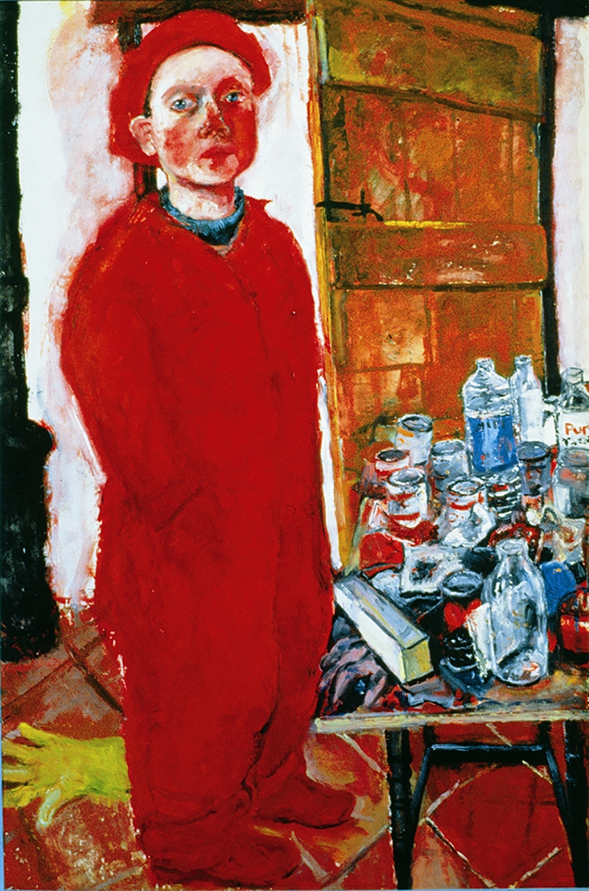 Red Self Portrait, 1992 coll. National Museum Wales