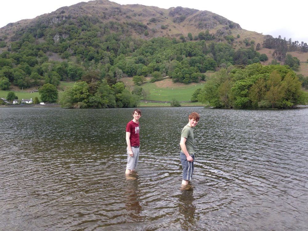 Joe and Lucas in the Lake District