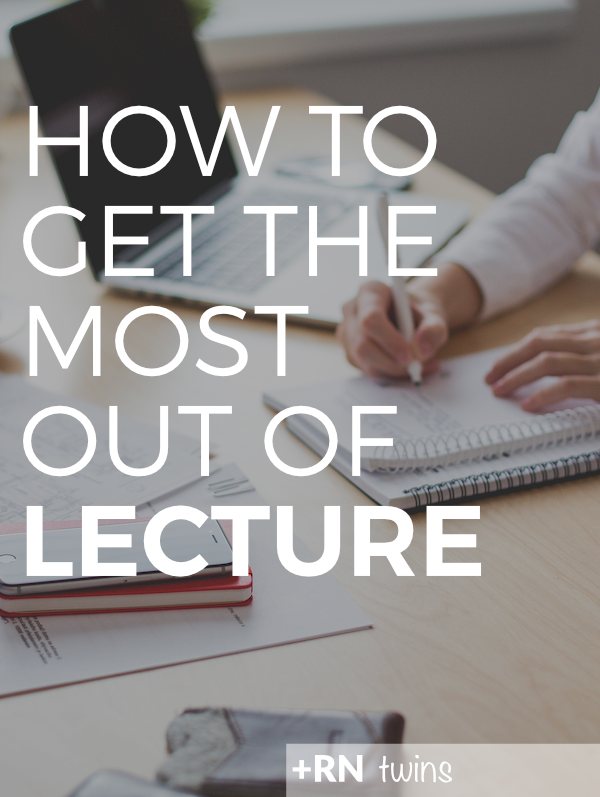 Are you leaving your #nursing lectures feeling overwhelmed and confused?  Click through to check out our four tips for getting the most out of every lecture!