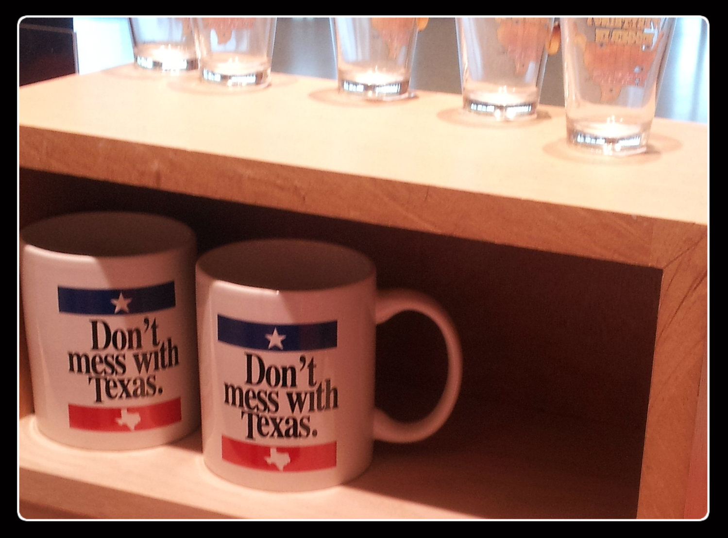 And the tagline is on everything.  Shot glasses, mugs, underwear . . . you name it..