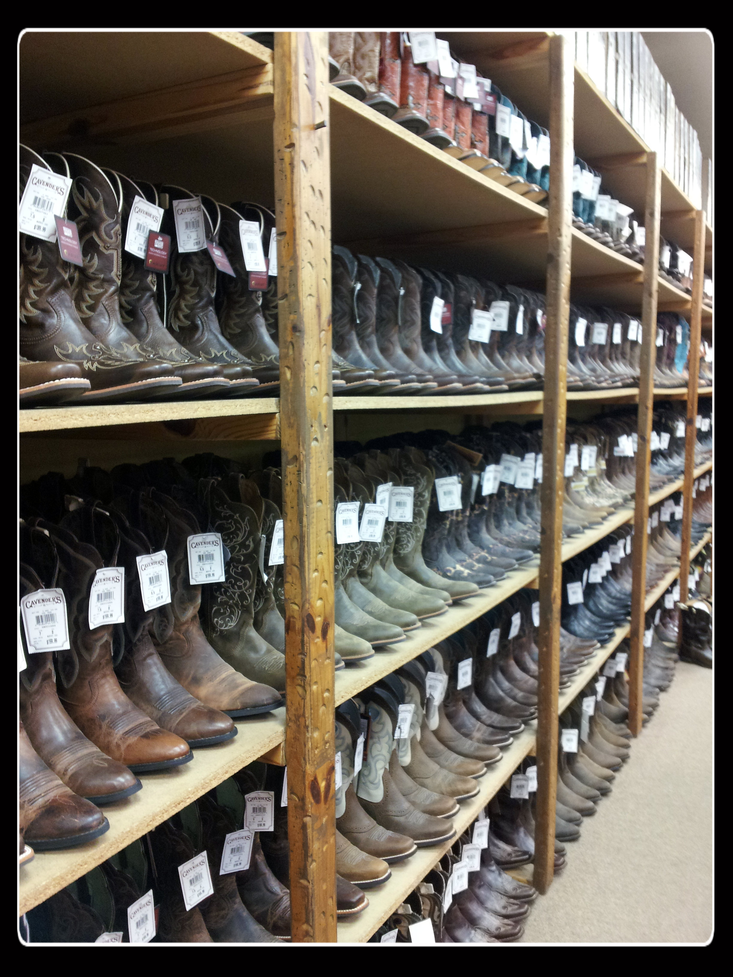 A boatload of boots.
