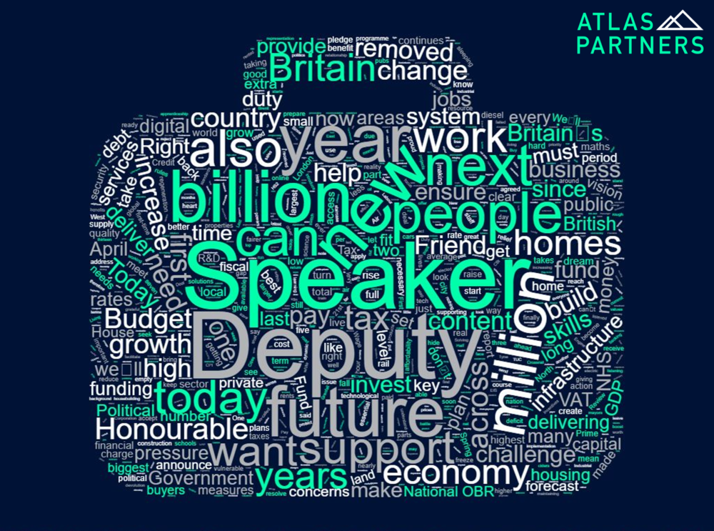 2017 Autumn Budget word cloud