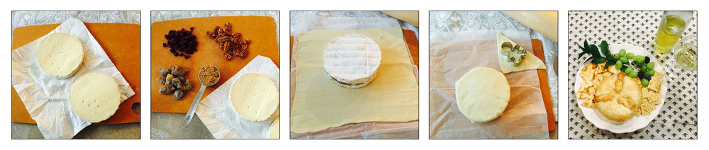 BRIE EN CROUTE, STEP BY STEP