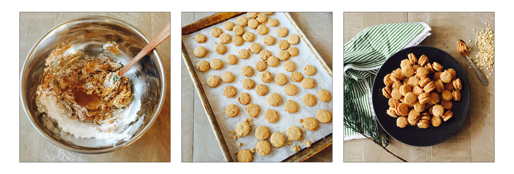 PEANUT BUTTER SANDWICH COOKIES, STEP BY STEP.