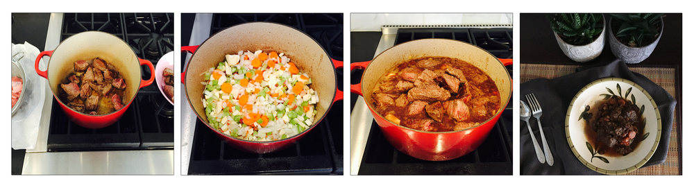 BEEF STEW, STEP BY STEP.