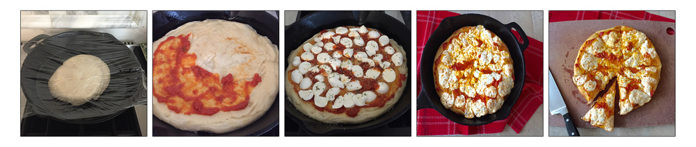 CAST IRON SKILLET PIZZA, STEP BY STEP.