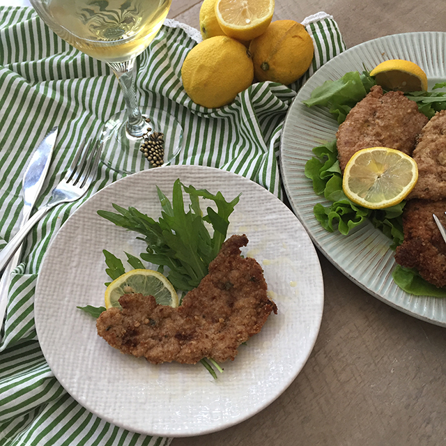 traditional pork milanese
