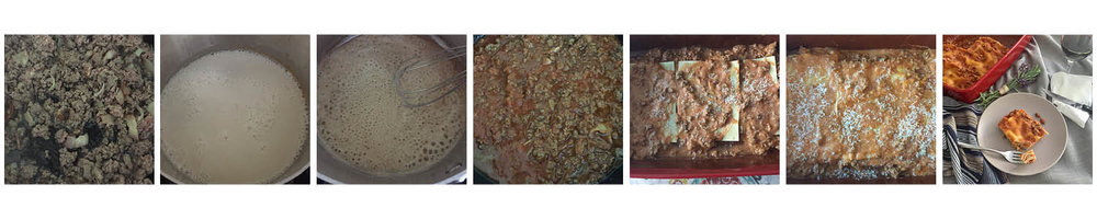 Lasagna bolognese, step by step.