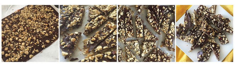 NUTTY CHOCOLATE MATZO BRITTLE, STEP BY STEP