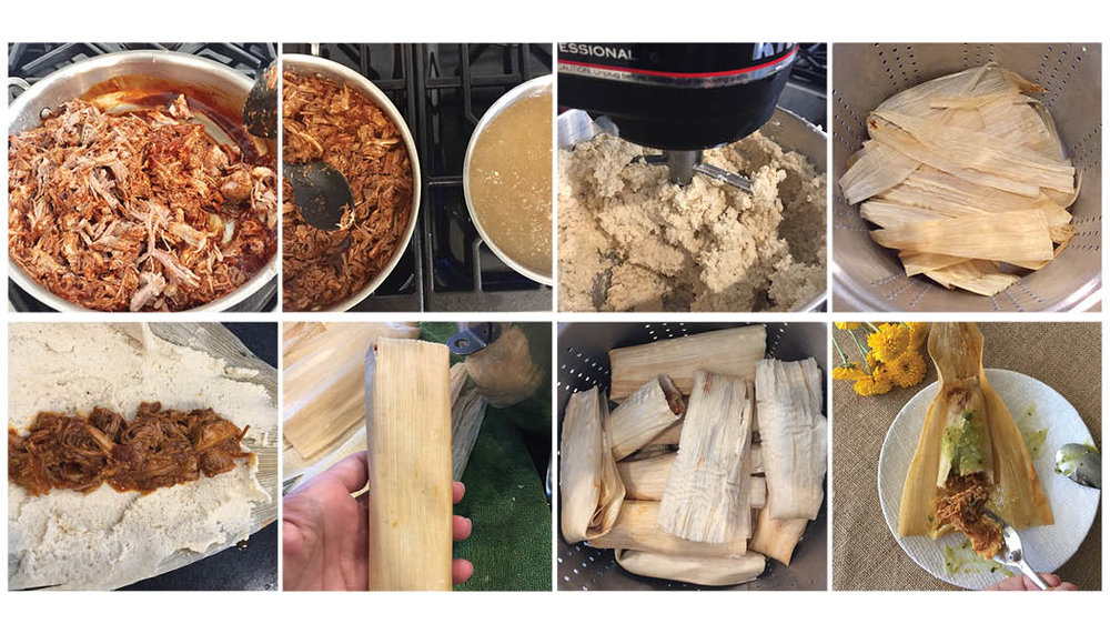 PORK TAMALES, STEP BY STEP.