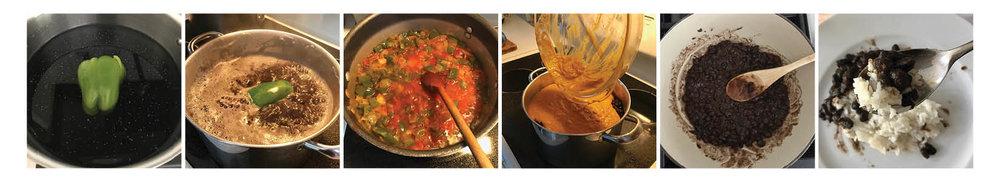 Magic Cuban Black Beans, Step by Step.